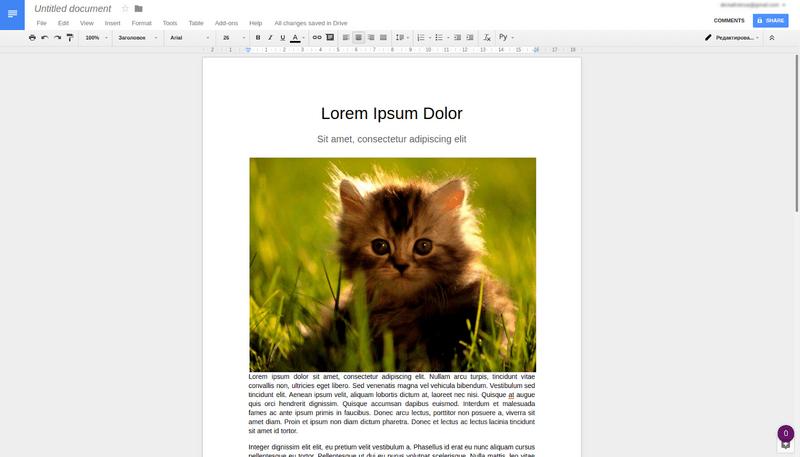Wordpress for Google Docs' post example