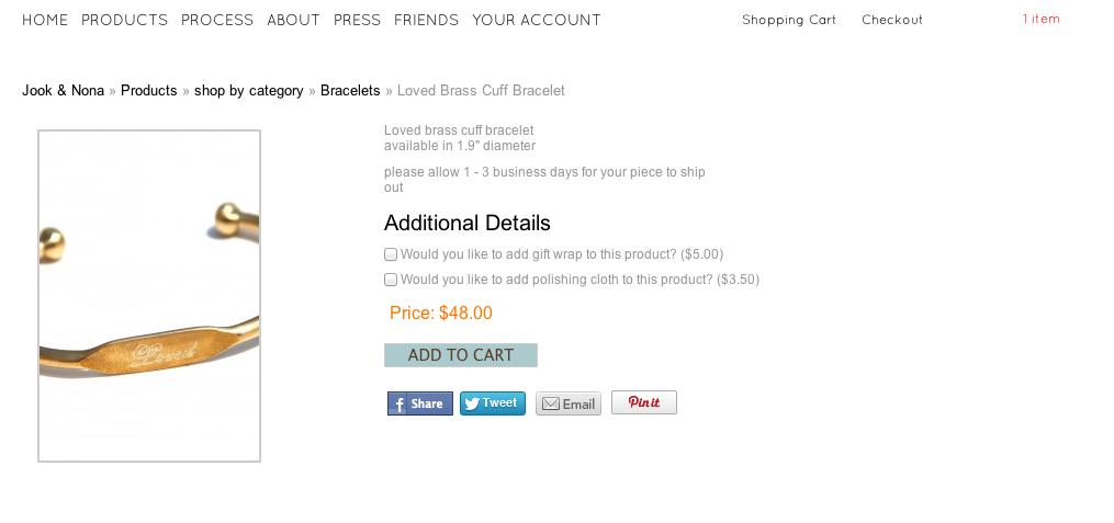 WP eCommerce store