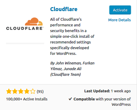 Activating Cloudflare