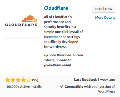 Installing Cloudflare on WordPress