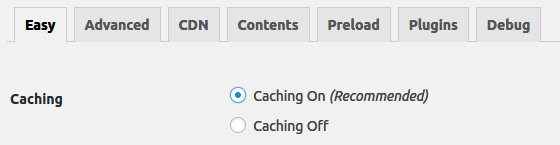 WP Super Cache Settings