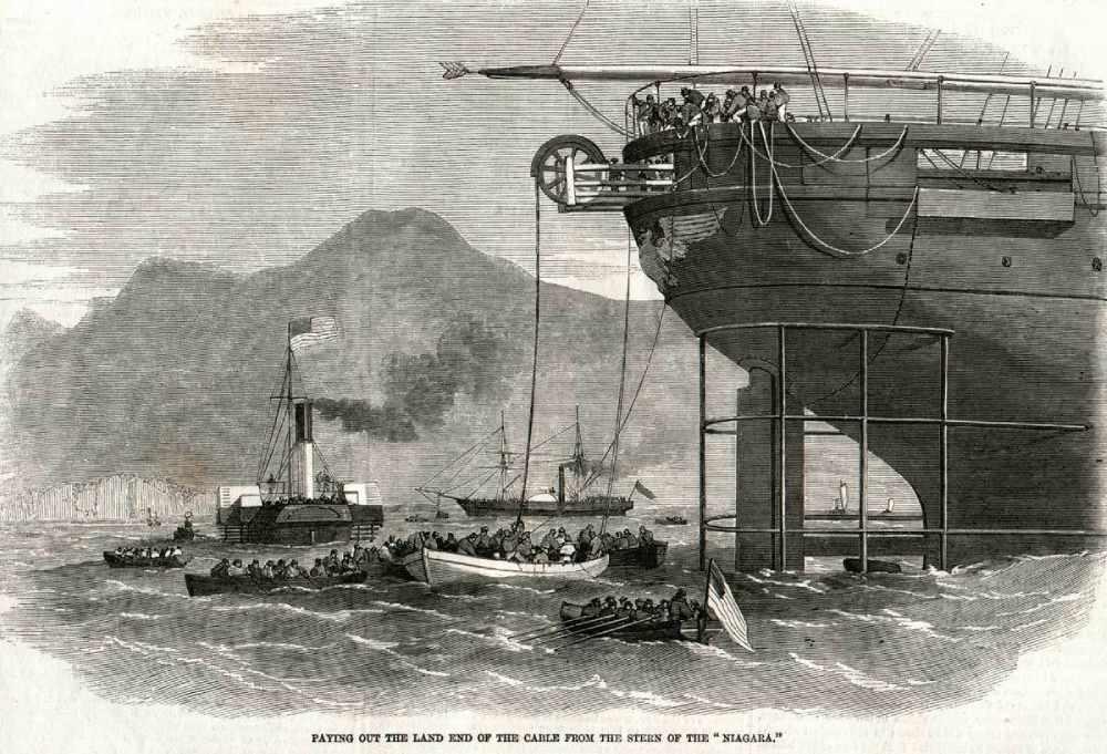 Прокладка кабеля по дну океана