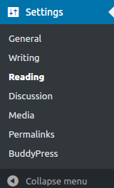 settings wordpress