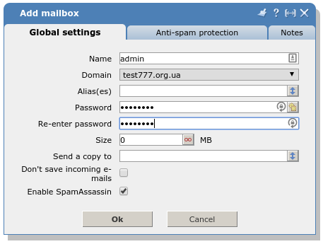 How to create a mailbox