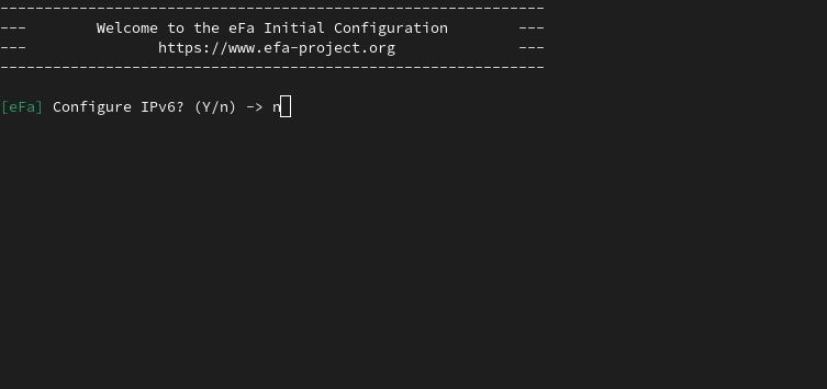 Configuration EFA