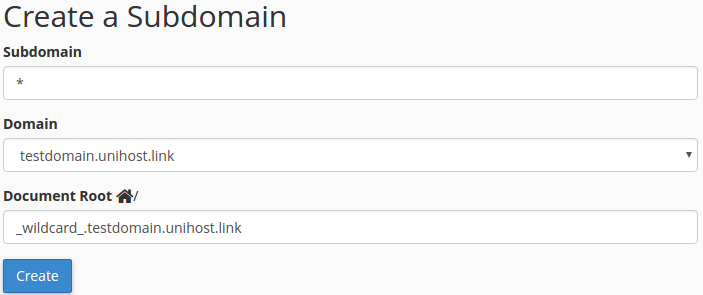 How to enable the subdomain support for WordPress Multisite in cPanel