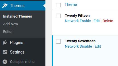 Managing plugins in the WordPress Multisite Network