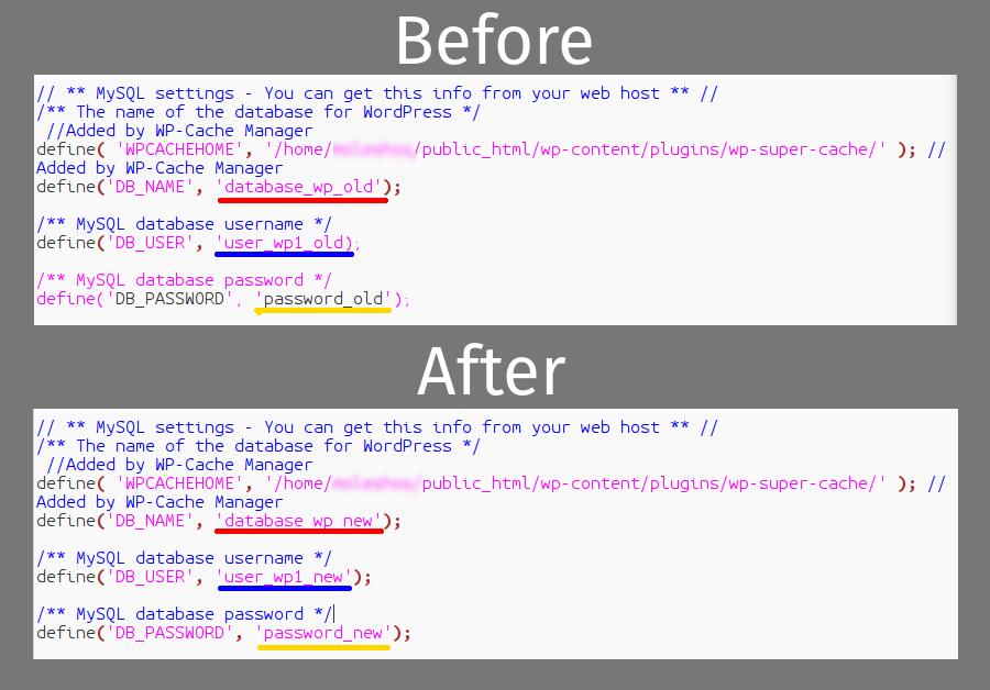 edit wp-config en