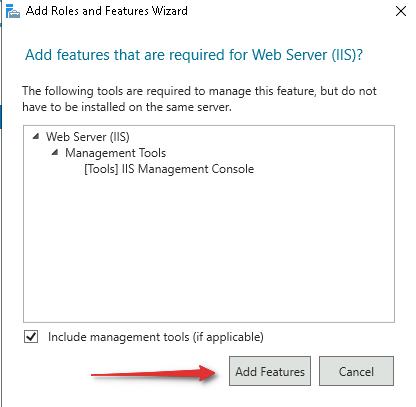 Добавить компоненты«(Add features)